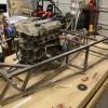 test fitting engine/tranny again